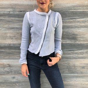 Gap Heather Grey Moto Jacket